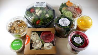 Produkte des Marktchecks Food-to-go